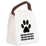 Dog Canvas Lunch Bag