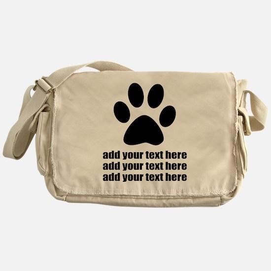 Dog's paw Messenger Bag