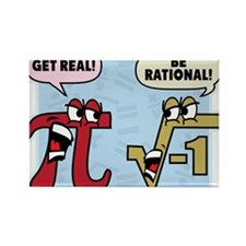 Cute Be rational Rectangle Magnet (10 pack)