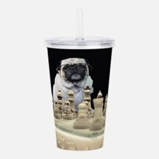 Pug Chess Acrylic Double-wall Tumbler