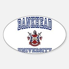 BANKHEAD University Oval Decal