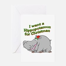 Unique Hippo Greeting Card