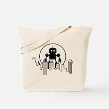 Robot Skyline Tote Bag