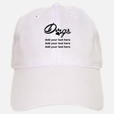 custom add text dog's paw Baseball Baseball Cap