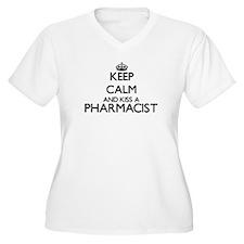 Keep calm and kiss a Pharmacist Plus Size T-Shirt