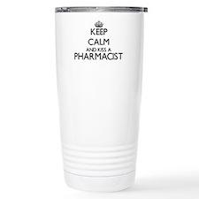 Keep calm and kiss a Ph Stainless Steel Travel Mug