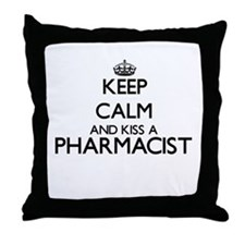 Keep calm and kiss a Pharmacist Throw Pillow