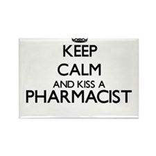 Keep calm and kiss a Pharmacist Magnets