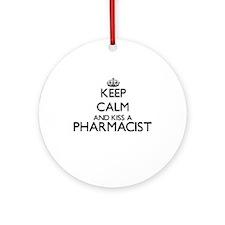 Keep calm and kiss a Pharmacist Ornament (Round)