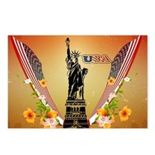 USA Statue of Liberty Postcards (Package of 8)