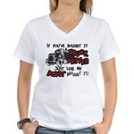 A Truck Driver Like My Aunt Women's V-Neck T-Shirt