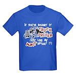 A Truck Driver Like My Aunt Kids Dark T-Shirt