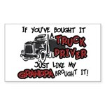 A Truck Driver Like My Grandpa Sticker (Rectangula