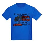 A Truck Driver Like My Grandpa Kids Dark T-Shirt