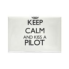 Keep calm and kiss a Pilot Magnets