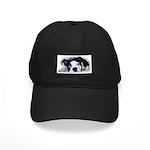 sad boston terrier dog Black Cap