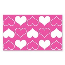 Pink and White Hearts Pattern Decal