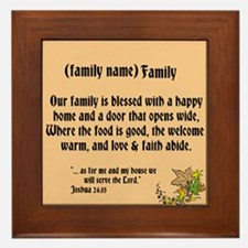 Family Declaration Framed Tile