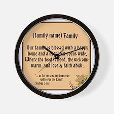 Family Declaration Wall Clock