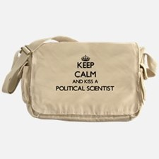Keep calm and kiss a Political Scien Messenger Bag