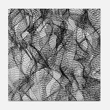 Black Mesh Lace Tile Coaster