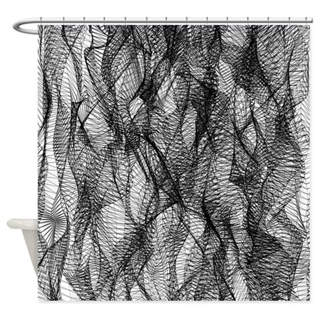 Black Mesh Lace Shower Curtain By Covartdesigns