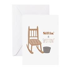 Sittin & Spittin Greeting Cards