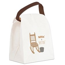 Sittin & Spittin Canvas Lunch Bag