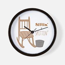 Sittin & Spittin Wall Clock