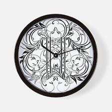 Ladies 11:11 Floral Wall Clock