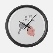 My First Place Large Wall Clock