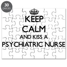 Keep calm and kiss a Psychiatric Nurse Puzzle