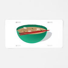 Bowl of Soup Aluminum License Plate