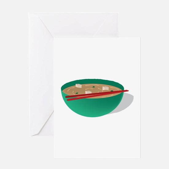 Bowl of Soup Greeting Cards