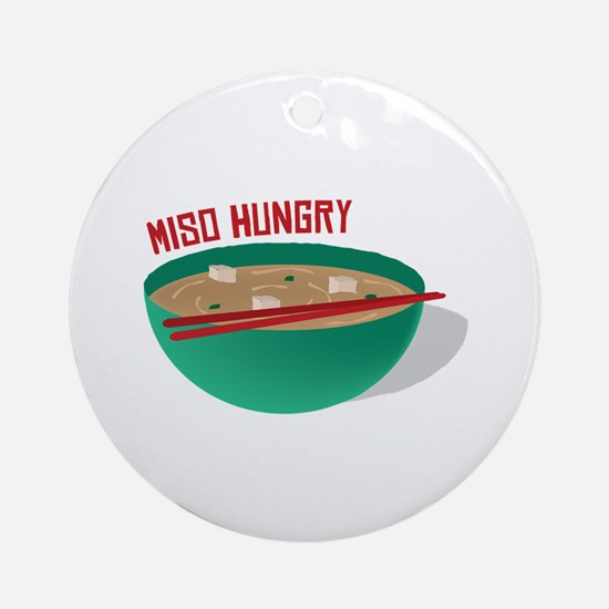 Miso Hungry Ornament (Round)