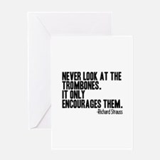 Trombone Quote Greeting Cards