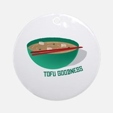 Tofu Goodness Ornament (Round)