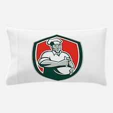 Baker Chef Cook Mixing Bowl Shield Retro Pillow Ca