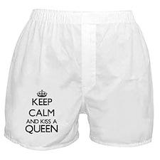 Keep calm and kiss a Queen Boxer Shorts