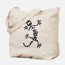 Skeleton Lizard Tote Bag