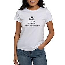 Keep calm and kiss a Radio Studio Manager T-Shirt