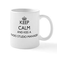 Keep calm and kiss a Radio Studio Manager Mugs