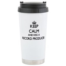 Keep calm and kiss a Re Travel Coffee Mug