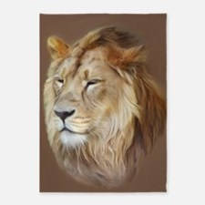 Painting Lion 5'x7'Area Rug