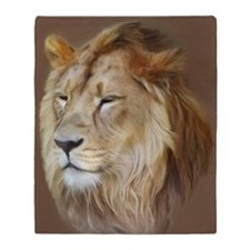 Painting Lion Throw Blanket