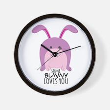 Bunny Loves You Wall Clock
