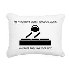 Neighbors - DJ Rectangular Canvas Pillow