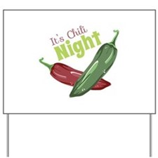 Chili Night Yard Sign
