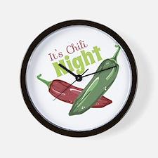 Chili Night Wall Clock