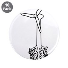 """Thing Green 3.5"""" Button (10 pack)"""